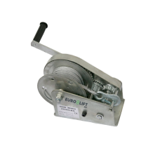 Лебедка барабанная с автоматическим тормозом AHW2600, г/п 1200 кг, канат 50 м, вес 14.5 кг