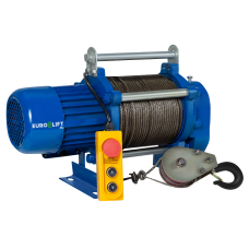 Лебедка электрическая KCD 300/600 кг, 70/35 м