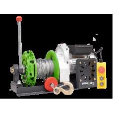 Лебедка KCD-M 500кг, 60м, U=220 В электрическая  монтажная с рычагом