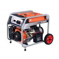 Генератор бензиновый TOR KM6500H 5,0кВт 220В 27л с кнопкой запуска и колесами, шт