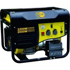 Генератор бензиновый TOR TR2500E 2,0кВт 220В 15л с кнопкой запуска, шт